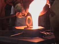 casting molten glass